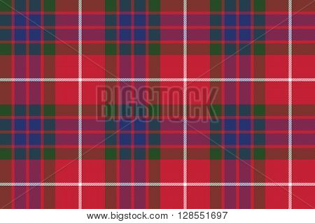 fraser tartan seamless pattern fabric texture .Vector illustration. EPS 10. No transparency. No gradients.
