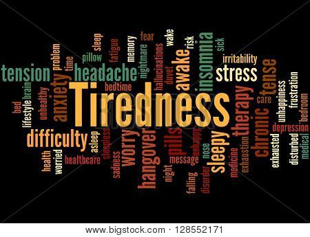 Tiredness Word Cloud Concept 2