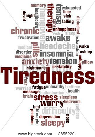 Tiredness Word Cloud Concept 4