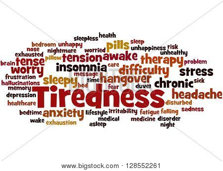 Tiredness Word Cloud Concept 8