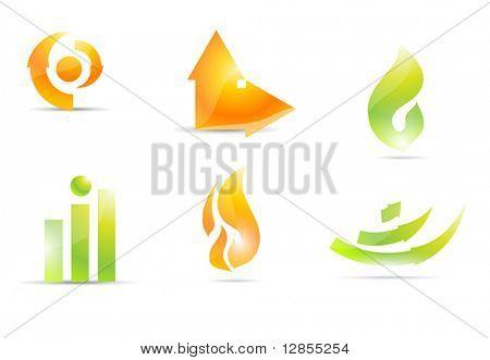 Set of Vector Elements for Design