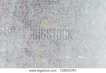Abstract photo manipulated background. Close up of distressed vintage book cover with filter effects applied.