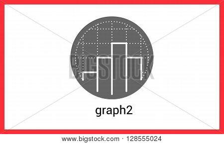 Diagram contour outline vector icon. Chart linear pictogram