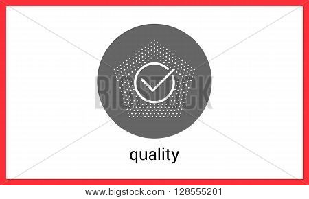 Checkmark linear pictogram. Quality mark contour outline vector icon.