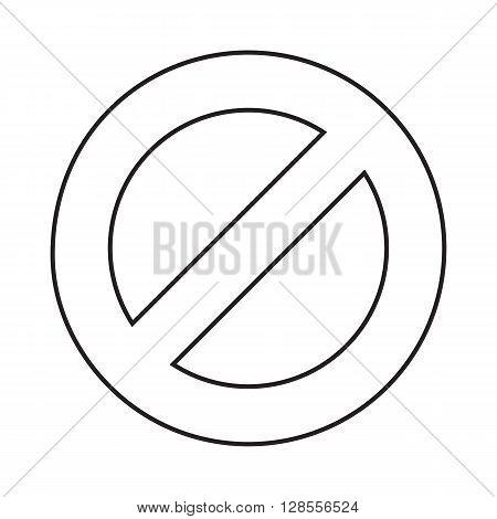 Line icon prohibition. No allowed sign. Vector illustration.