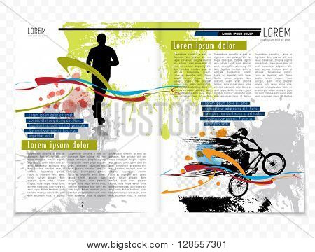 Layout press magazine, vector