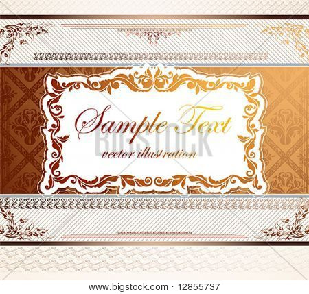 gold vector frame for design