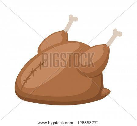 Fried chicken vector illustration.