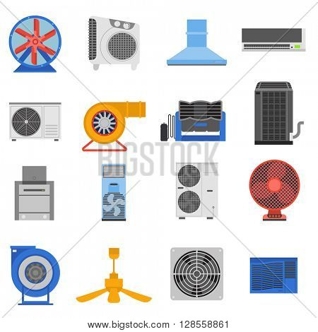 Ventilation vector illustration.