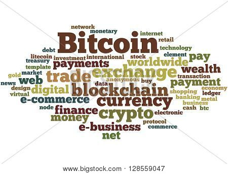 Bitcoin, Word Cloud Concept 5