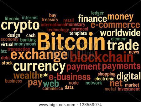 Bitcoin, Word Cloud Concept 7