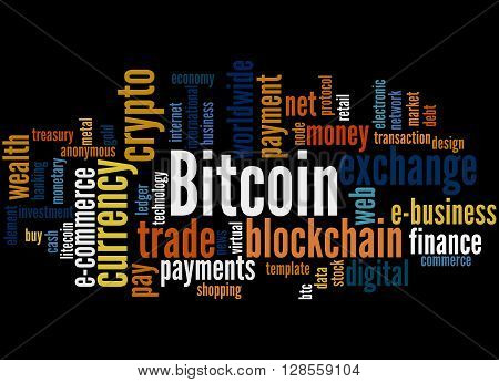 Bitcoin, Word Cloud Concept 9
