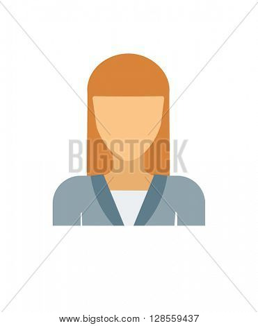 Flat vector avatar face character person portrait user icon.