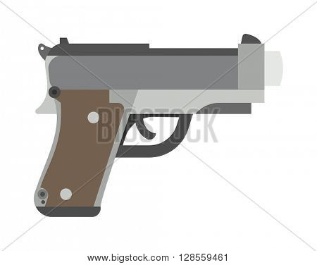 Weapon series vintage wild west army handgun military pistol gun vector.