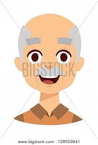 Happy grandpa vector illustration.