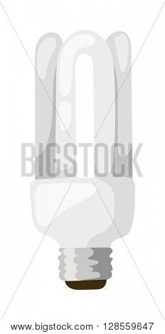 LED lamp isolated vector illustration.