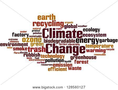 Climate Change, Word Cloud Concept 2
