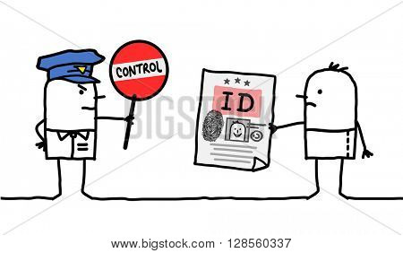 cartoon characters - police control - identity