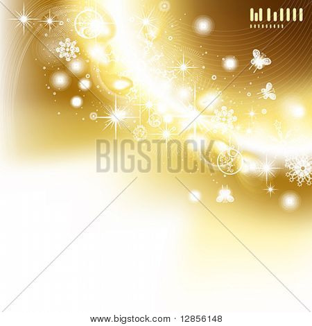 Abstract christmas vector illustration for New Year design