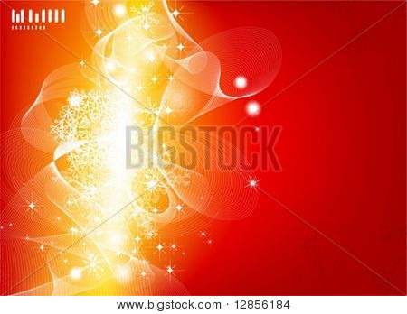 Abstract Christmas vector illustration for 2010 New Year design.