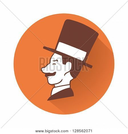 This is an illustration of Businessman head symbol