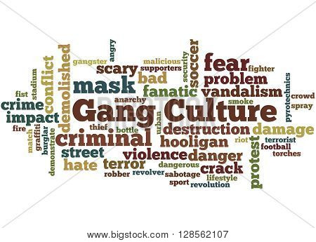 Gang Culture, Word Cloud Concept 2