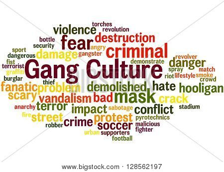 Gang Culture, Word Cloud Concept 6
