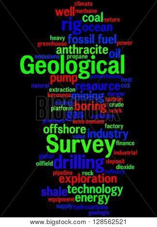 Geological Survey, Word Cloud Concept 4