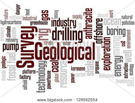 Geological Survey, Word Cloud Concept 7
