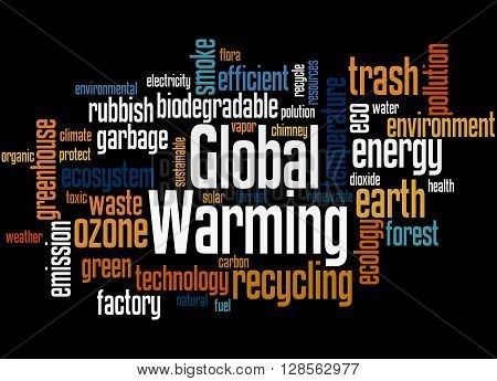 Global Warming, Word Cloud Concept 9