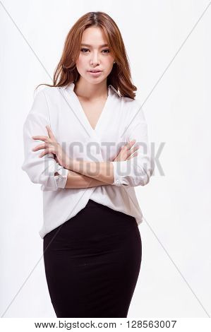 Asian American Businesswoman With Crossed Arms