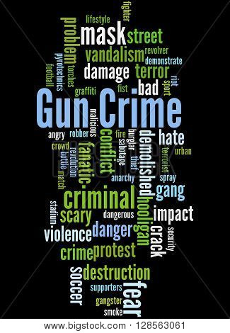 Gun Crime, Word Cloud Concept 4