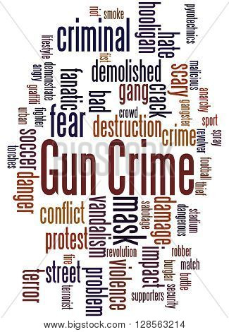 Gun Crime, Word Cloud Concept 8