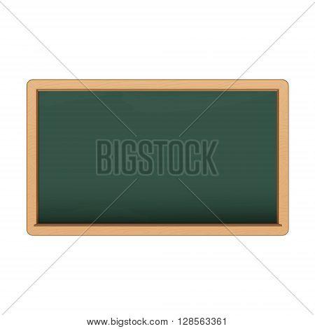 Green chalkboard on white background. Vector eps10 illustration