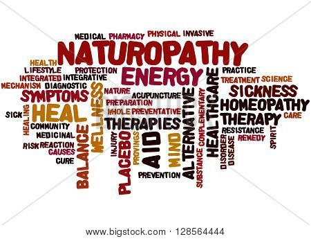 Naturopathy, Word Cloud Concept 4