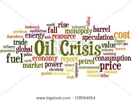 Oil Crisis, Word Cloud Concept 4