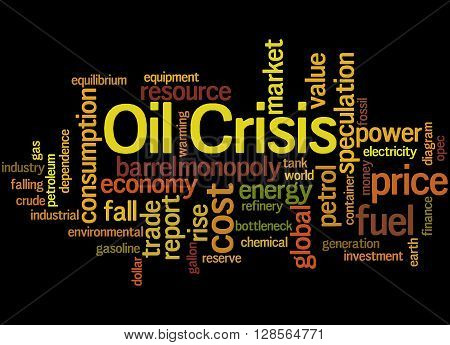 Oil Crisis, Word Cloud Concept 7