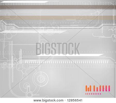 Digital background for techno design. EPS10