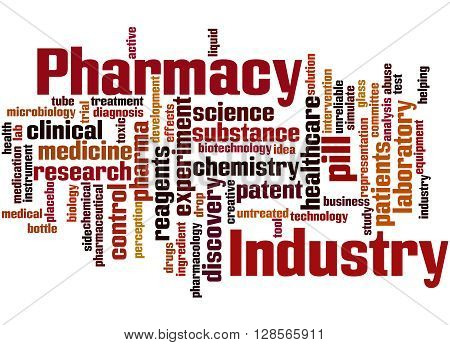 Pharmacy Industry, Word Cloud Concept