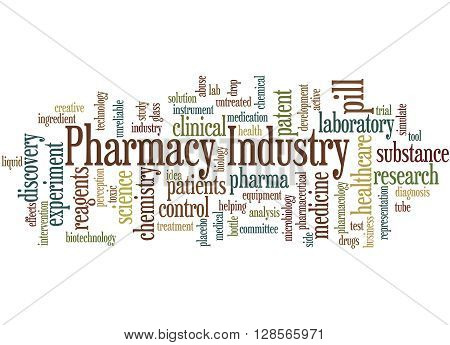 Pharmacy Industry, Word Cloud Concept 5