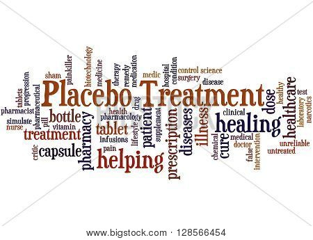 Placebo Treatmen, Word Cloud Concept