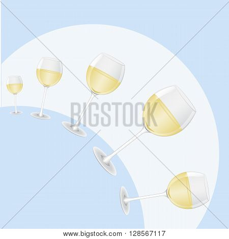 hemisphere of glasses of wine for a bar or restaurant signs
