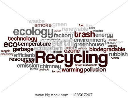 Recycling, Word Cloud Concept 5