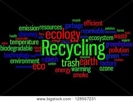 Recycling, Word Cloud Concept 8
