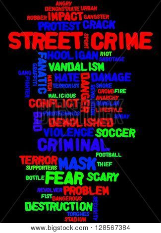 Street Crime, Word Cloud Concept 5