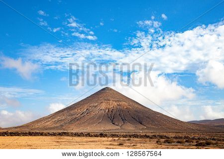 Volcano in fuerteventura