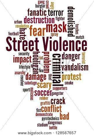 Street Violence, Word Cloud Concept 3