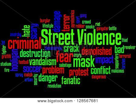 Street Violence, Word Cloud Concept 5