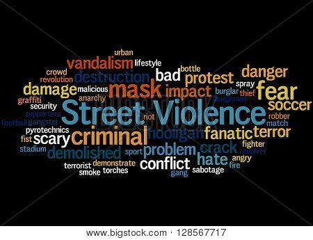 Street Violence, Word Cloud Concept 8