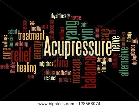 Acupressure, Word Cloud Concept 3